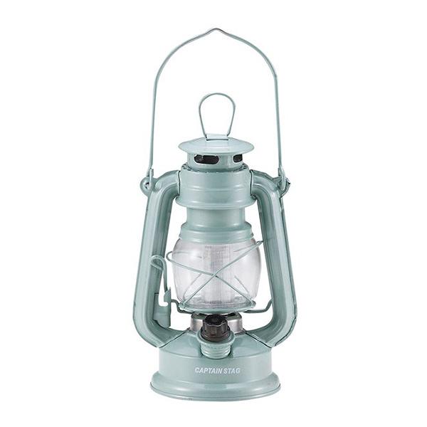 [CAPTAIN STAG] 鹿牌 復古LED油燈(淺綠) (M-1327) 秀山莊戶外用品旗艦店