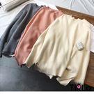 針織衫-Tirlo-百搭圓領小開衩針織衫...