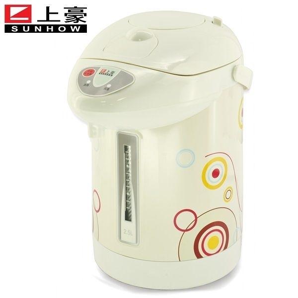 【艾來家電】上豪 內膽304不鏽鋼2.5L氣壓熱水瓶 PT-2501