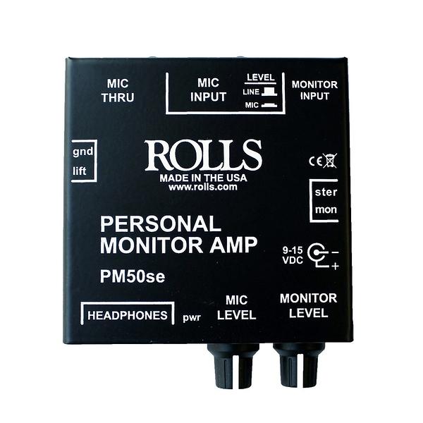 【音響世界】美製ROLLS PM50se個人立體或單音訊號/麥克風監聽放大器(含稅保固)