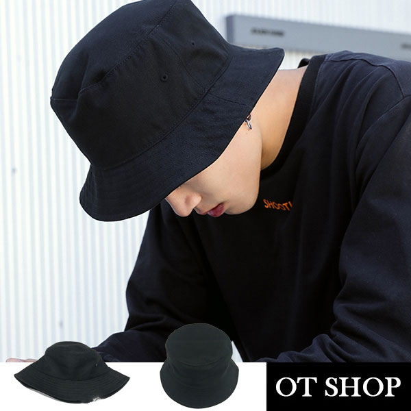 OT SHOP帽子‧棉質素色質感車工‧漁夫帽遮陽帽盆帽‧韓國明星同款嘻哈街頭穿搭‧現貨‧C1887