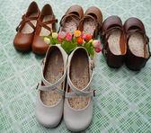 日系娃娃鞋學生演出小皮鞋森女系搭扣小清新平底可愛圓頭女鞋【無趣工社】