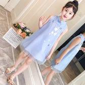 女童旗袍2019夏新款兒童中國風薄款連衣裙寶寶唐裝女孩洋氣公主裙『櫻花小屋』