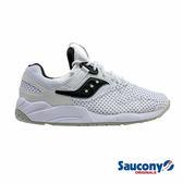 SAUCONY GRID 9000 經典復古鞋款-白X黑X波點