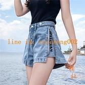 牛仔短褲女夏寬鬆闊腿時尚薄款直筒高腰顯瘦【橘社小鎮】