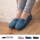 [Here Shoes]3色 皮革質感蝴...