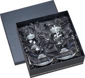 宜龍 耐熱玻璃 晶豔-亞洲(花茶壺+糖罐+2花茶杯碟)4入禮盒
