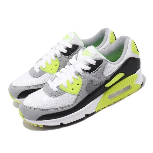 Nike 休閒鞋 Air Max 90 OG Volt 灰 綠 螢光綠 男鞋 經典配色 運動鞋 【PUMP306】 CD0881-103