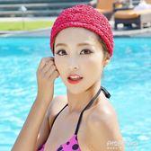 長短發時尚護耳布游泳帽加大不勒頭溫泉泳帽女  朵拉朵衣櫥