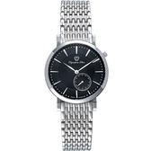 Olympia Star 奧林比亞之星  典都會系列英倫休閒針時尚腕錶-黑/36mm