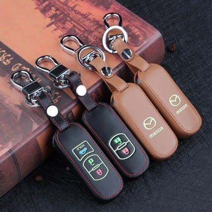 MAZDA 3 AXELA 馬自達6 wagon CX-5 CX-3 CX-9 汽車 鑰匙 皮套 鑰匙包 夜光 智慧型