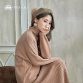 正韓 羊毛針織上衣+高領背心長洋套組/三色 CSET181215