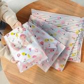 印花夾鏈袋 EVA 密封袋 旅行 透明 防水 整理分類 行李箱 衣物密封收納袋(小) 【Z200】生活家精品