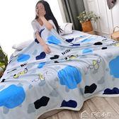 毛毯珊瑚絨毯子加厚法萊絨休閒毯法蘭絨床單被子單人宿舍學生 多色小屋