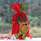 聖誕裝飾品禮品袋紅酒袋餐廳裝飾 糜鹿立體造型