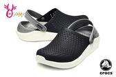 Crocs卡駱馳 洞洞鞋 成人男女款 LiteRide 園丁鞋 防水布希鞋 A1706#黑色◆OSOME奧森鞋業