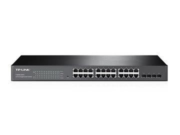 ◤全新品 含稅 免運費◢ TP-LINK 24P Gigabit智慧型網路交換 (含4個SFP插槽) ( T1600G-28TS (TL-SG2424) )