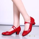 2019春夏季教師鞋女成人廣場舞鞋時尚中跟軟底舞蹈鞋 CJ3261『易購3c館』