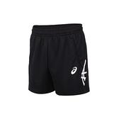 ASICS 男短版球褲(免運 亞瑟士 慢跑 運動 台灣製 針織 三分褲≡體院≡ 2053A138-001