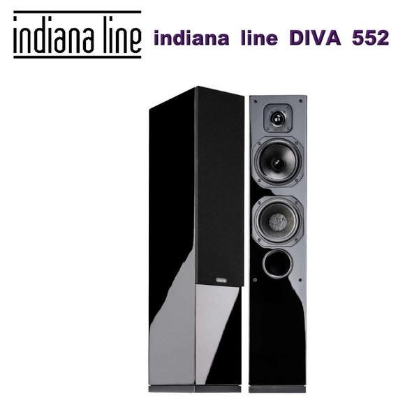 義大利 indiana line DIVA 552 落地式主聲道喇叭黑色/對