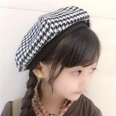 韓版兒童貝雷帽女童南瓜帽小女孩復古毛呢畫家帽日系蓓蕾帽潮『摩登大道』