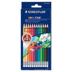 [奇奇文具]【施德樓 STAEDTLER 色鉛筆】 施德樓 MS14450NC12 快樂學園可擦拭色鉛筆 (12/色組)