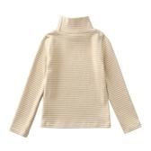 兒童條紋打底衫半高領童秋裝上衣男童長袖t恤秋季寶寶內搭衛生衣-ifashion