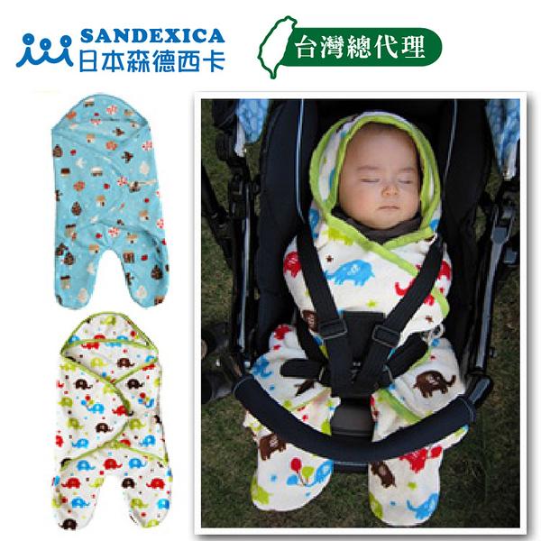 NG品下殺 手推車 安全座椅 珊瑚絨保暖包巾 【日本 SANDESICA   保暖墊 嬰幼兒寶寶 被毯FA0016】