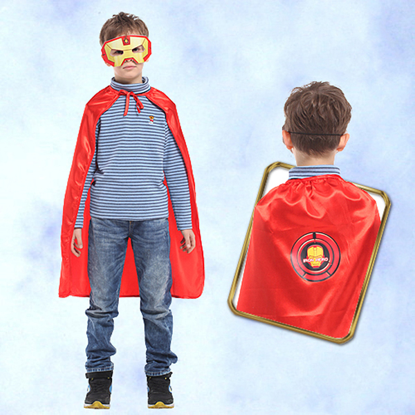 【派對造型服/道具】萬聖節裝扮 鋼鐵小英雄眼罩披風組 30吋 GTH-1746
