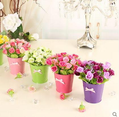 F0656 絹花假花仿真花套裝 客廳裝飾花套裝 創意擱板擺設 (1套=1盆)