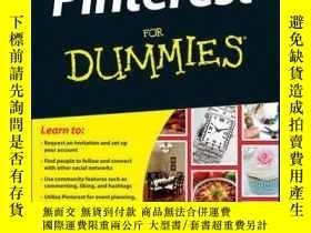 二手書博民逛書店Pinterest罕見For DummiesY410016 Kelby Carr ISBN:97811183