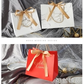 新款婚禮喜糖盒手提袋喜糖袋回禮袋伴手禮結婚喜糖禮盒紙空盒 中秋節全館免運