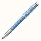 派克高尚經典鈦藍格紋鋼珠筆