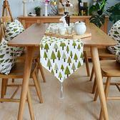 桌旗桌旗現代簡約鞋櫃電視櫃桌布布藝北歐中美式茶幾餐桌巾長條床尾巾 聖誕交換禮物