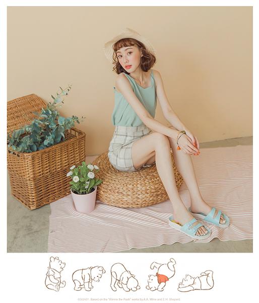 DISNEY 甜蜜氣息 維尼休閒涼拖鞋-藍(DW6162)