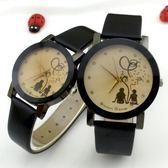 618好康又一發正韓時尚學生錶個性創意情侶手錶男女電子石英錶皮帶WY