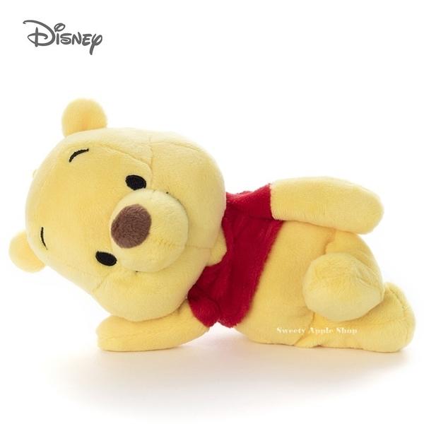 日本限定 迪士尼 小熊維尼 2way 側身玩偶娃娃