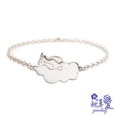 《 SilverFly銀火蟲銀飾 》純銀彌月刻字手鍊「夢想天空系列」螺旋雲- Ailsa秋草愛