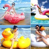 INTEX兒童成人水上動物坐騎充氣玩具獨角獸火烈鳥浮排游泳圈加厚  晴光小語