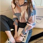 大碼女裝襯衫上衣女設計感小眾減齡襯衣韓版【時尚大衣櫥】