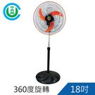 中央興18吋360度旋轉電風扇UC-S1...