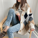 DE shop - 慵懶風針織衫外套 -...