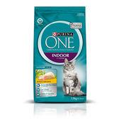 【寵物王國】普瑞納-ONE CAT 頂級貓乾糧(室內成貓雞肉配方)1.5kg