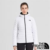 【THE NORTH FACE 美國】女 防潑水輕羽絨雙面保暖連帽外套『白』NF0A3KTM 戶外 休閒 保暖 防風