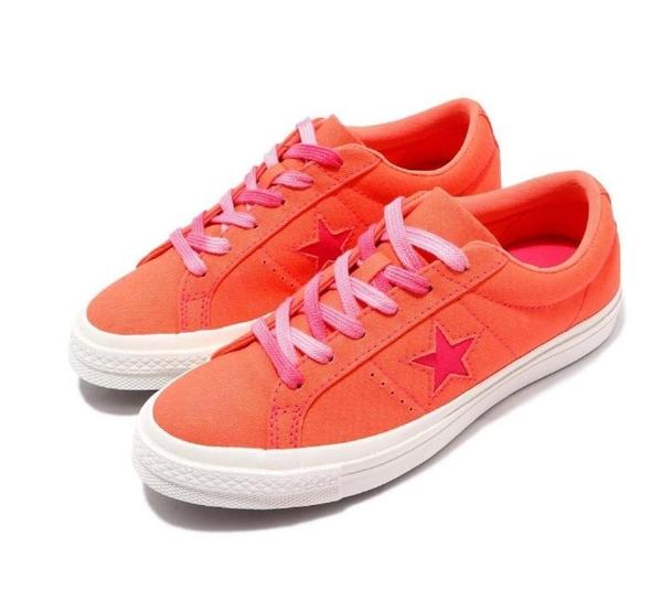 CONVERSE-女款橘粉低筒休閒鞋-NO.564152C