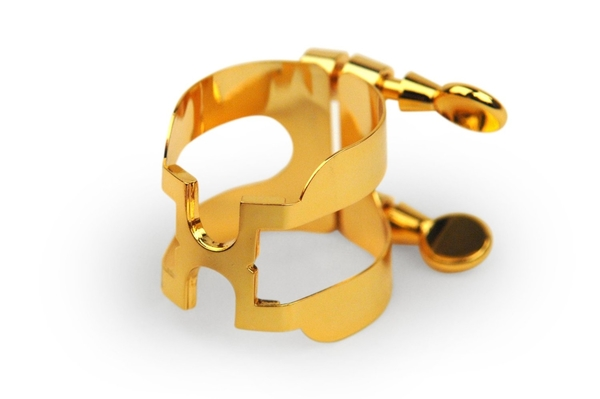 【小叮噹的店】HAS1G 美國RICO 中音薩克斯風 金色H型金屬束圈+新型吹嘴蓋組