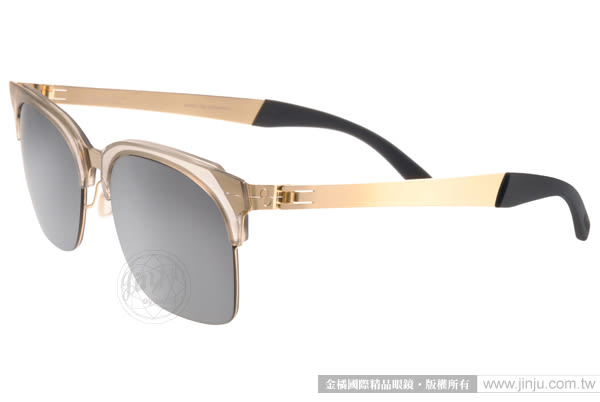ByWP 太陽眼鏡 BY15201 SKMGG (透明-金) 德國薄鋼 率性水銀鏡面款 # 金橘眼鏡
