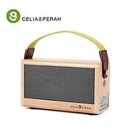 新竹【超人3C】免運 時尚 文青 輕巧 可愛  CELIA&PERAH P3 II 無線高傳真實木音響藍芽喇叭 驚人續航力
