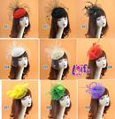 頭飾來福,H831多款羽毛頭飾花朵禮帽紗質面紗聖誕節派對舞會,售價350元