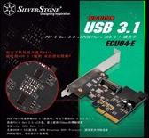 [地瓜球@] 銀欣 SilverStone ECU04-E USB 3.1 擴充卡~採用訊號放大晶片ASIC